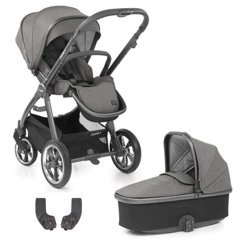 BabyStyle baby prams BabyStyle Oyster3 Pram & Carrycot City Grey/Mercury 8LPPSWF