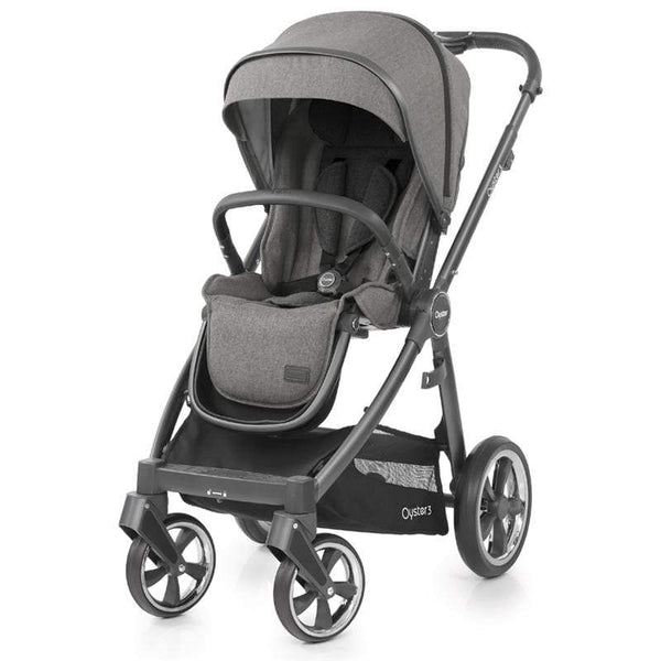 BabyStyle baby pushchairs Babystyle Oyster3 Pushchair City Grey/Mercury O3CHCIMC