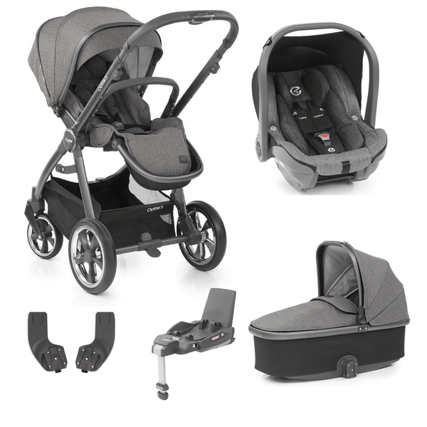 BabyStyle travel systems Babystyle Oyster 3 Essential Bundle City Grey/Mercury 6466-GRY-MCY
