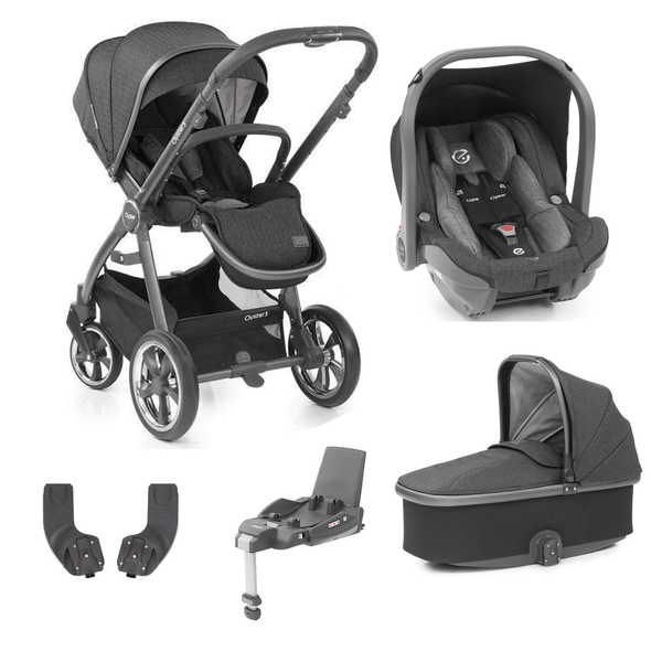 BabyStyle travel systems Babystyle Oyster 3 Essential Bundle City Grey/Pepper 6467-GRY-PEP