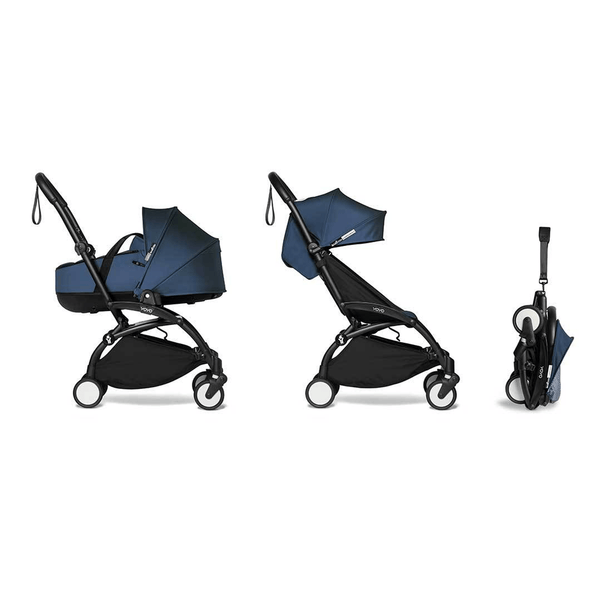 BabyZen baby pushchairs BabyZen YoYo2 0+ Complete Bassinet Stroller Black/Air France Blue 7420-BLK-AFB