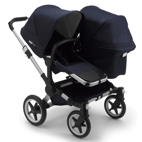 Bugaboo baby pushchairs Bugaboo Donkey 3 Duo Classic Complete Alu/Dark Navy 6876-ALU-NVY