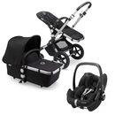 Bugaboo travel systems Bugaboo Cameleon 3 Plus Complete Pebble Pro Travel System Alu/Black/Black 6636-ALU-BLK