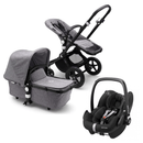 Bugaboo travel systems Bugaboo Cameleon 3 Plus Complete Pebble Pro Travel System Black/Grey Melange 6639-BLK-GRY