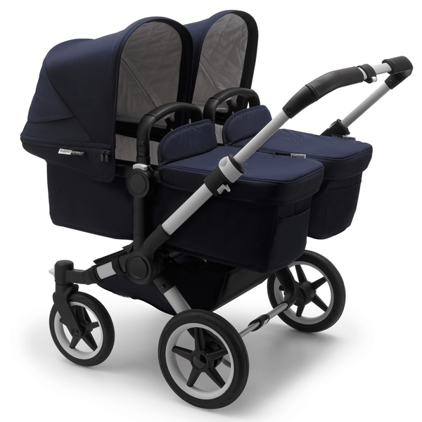 Bugaboo twin & tandem prams & pushchairs Bugaboo Donkey 3 Twin Complete Alu/Dark Navy 6879-ALU-NVY