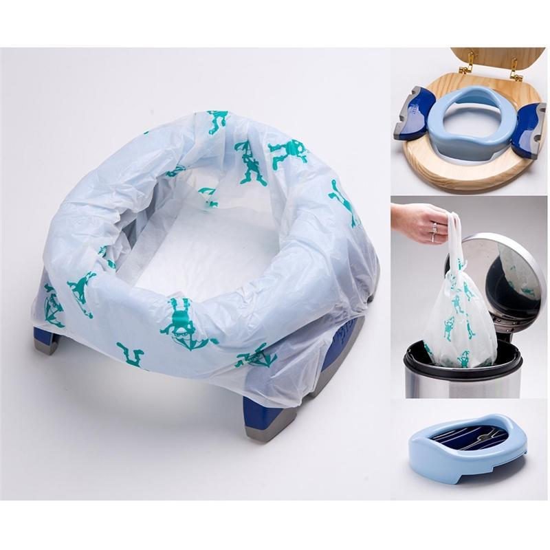 Cheeky Rascals potty & toilet training Potette Plus 2 in 1 Travel Potty Blue/Navy POPL-BN