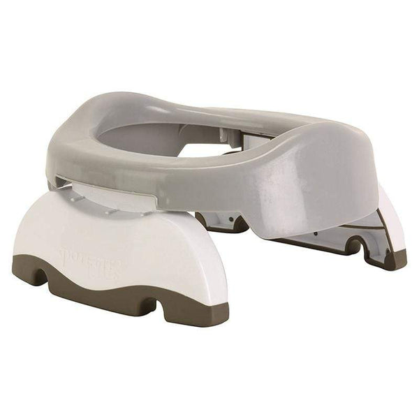 Cheeky Rascals potty & toilet training Potette Plus 2 in 1 Travel Potty Grey/White POPL-GW