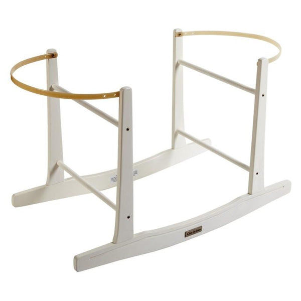 Clair De Lune moses basket stands Clair De Lune Rocking Moses Stand White CL4281W