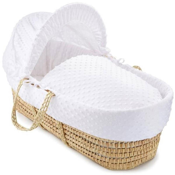 Clair De Lune moses baskets Clair De Lune Moses Basket Dimple White CL4668WE