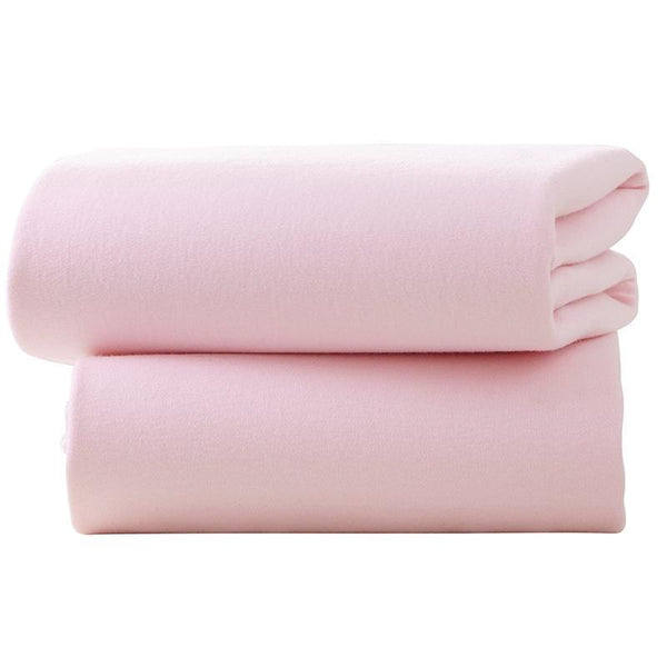 Clair De Lune pram & moses sheets Clair De Lune Pram Fitted Sheet 2 Pack Pink CL4527PK