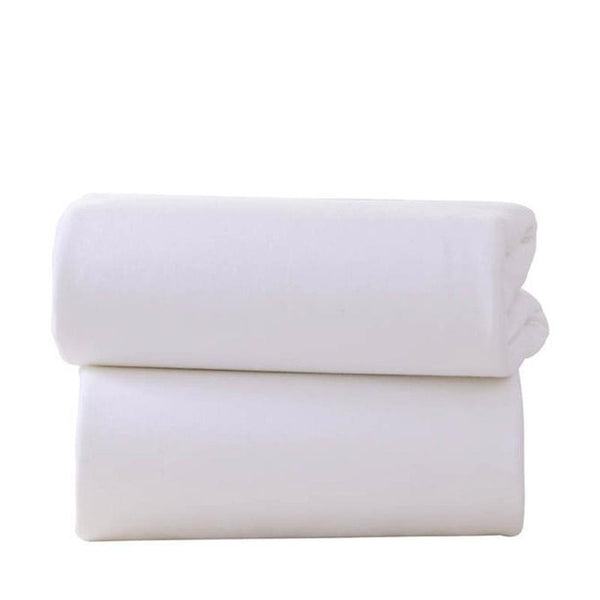 Clair De Lune pram & moses sheets Clair De Lune Pram Fitted Sheet 2 Pack White CL4527W