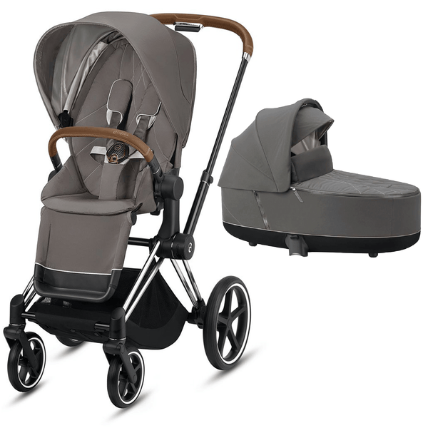 Cybex baby prams Cybex Priam & Lux Cot Chrome Brown/Soho Grey 6399-CH-BRN-SG