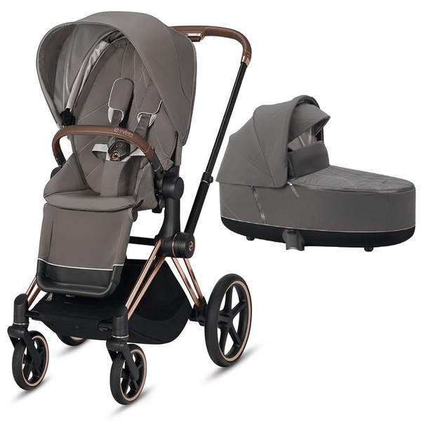 Cybex baby prams Cybex Priam & Lux Cot Rose Gold/Soho Grey 6405-RG-SG