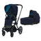 Cybex baby pushchairs Cybex e-Priam Pram Matt Black/Nautical Blue 6322-MBLK-NBLU
