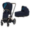 Cybex baby pushchairs Cybex e-Priam Pram Rose Gold/Nautical Blue 6319-ROSE-NBLU