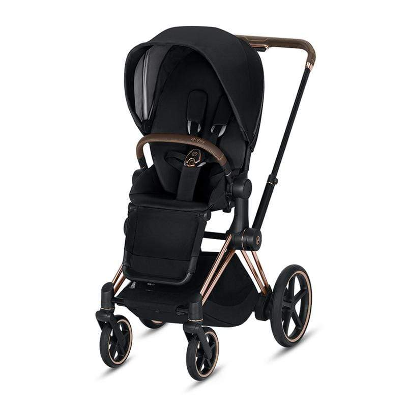 Cybex baby pushchairs Cybex e-Priam Pushchair Rose Gold/Premium Black k0od8fz