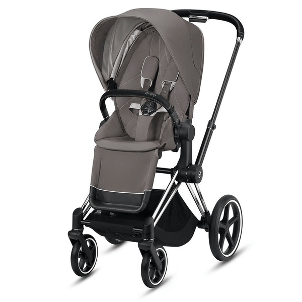 Cybex baby pushchairs Cybex Priam Pushchair Chrome Black/ Soho Grey 6370-CH-BLK-SG