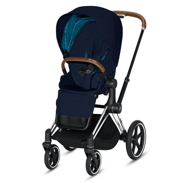 Cybex baby pushchairs Cybex Priam Pushchair Chrome Brown/ Nautical Blue 6374-CH-BRN-NB