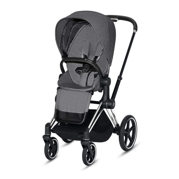 Cybex baby pushchairs Cybex Priam Pushchair Chrome/Black/Manhattan Grey Plus 1QDLIJ6