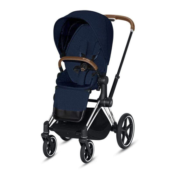 Cybex baby pushchairs Cybex Priam Pushchair Chrome/Brown/Midnight Blue Plus 8NH0797