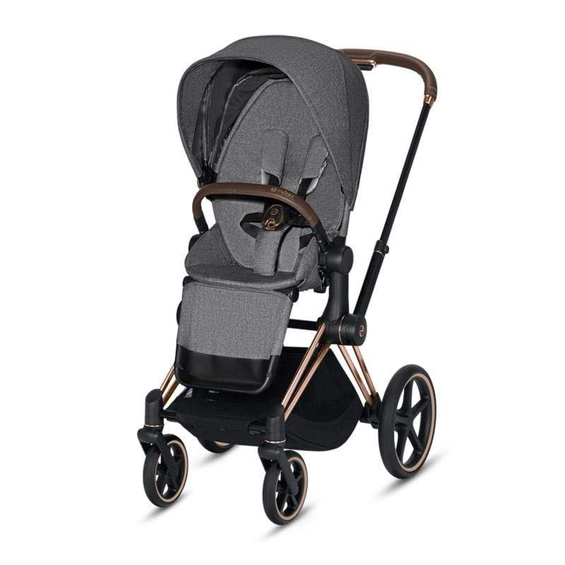 Cybex baby pushchairs Cybex Priam Pushchair Rose Gold/Manhattan Grey Plus FFKPY3E