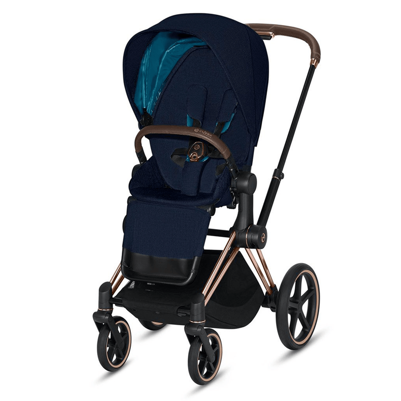 Cybex baby pushchairs Cybex Priam Pushchair Rose Gold/ Nautical Blue 6380-RG-NB