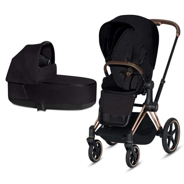 Cybex baby pushchairs Cybex Priam & Lux Cot Rose Gold/Stardust Black Plus JPDTF3E
