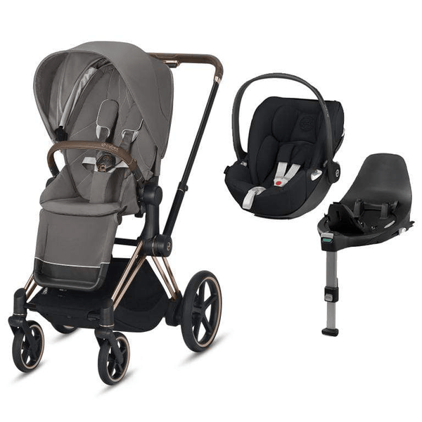 Cybex travel systems Cybex e-Priam Cloud Z  & Base Travel System Rose Gold/Soho Grey 6349-ROSE-SGRY