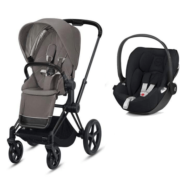 Cybex travel systems Cybex e-Priam Cloud Z Travel System Matt Black/Soho Grey 6343-MBLK-SGRY