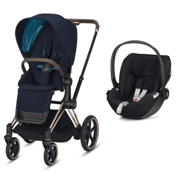 Cybex travel systems Cybex e-Priam Cloud Z Travel System Rose Gold/Nautical Blue 6339-ROSE-NBLU