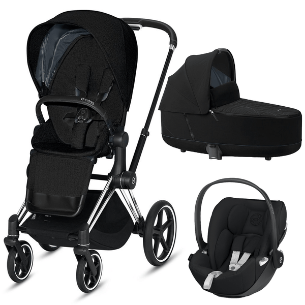 Cybex travel systems Cybex Priam 3 in 1 Travel System Chrome Black/Deep Black 6410-CH-BLK-BLK