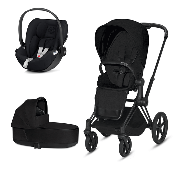 Cybex travel systems Cybex Priam 3 in 1 Travel System Matt Black/Stardust Black Plus 6366-BLK-BLK