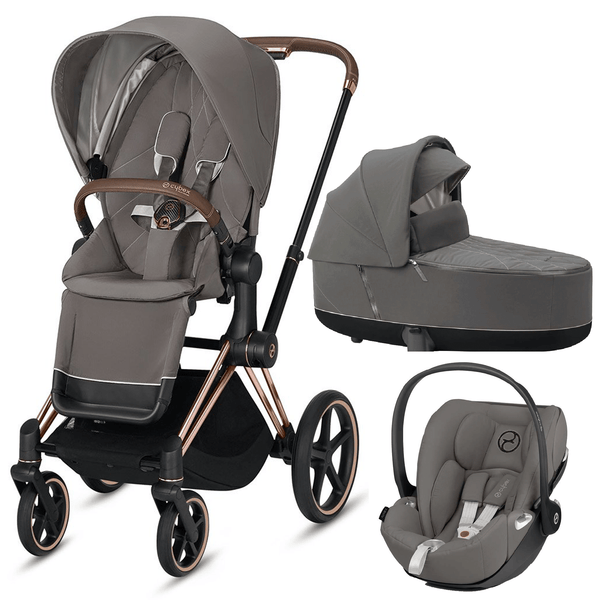 Cybex travel systems Cybex Priam 3 in 1 Travel System Rose Gold/Soho Grey 6417-RG-SG