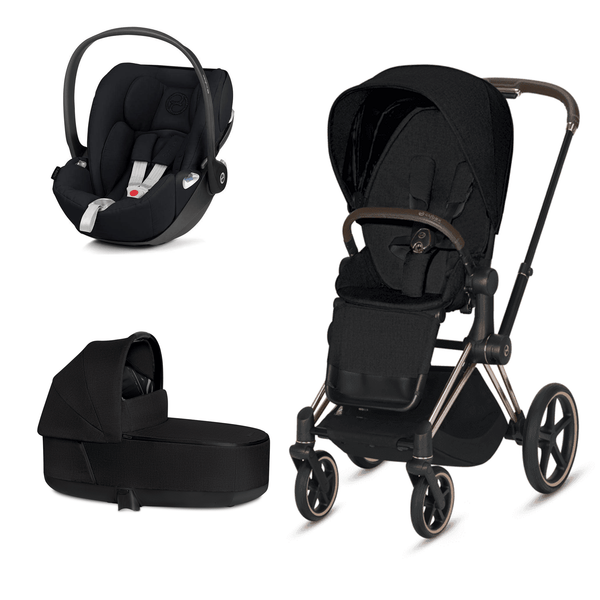 Cybex travel systems Cybex Priam 3 in 1 Travel System Rose Gold/Stardust Black Plus 6369-RG-BLK