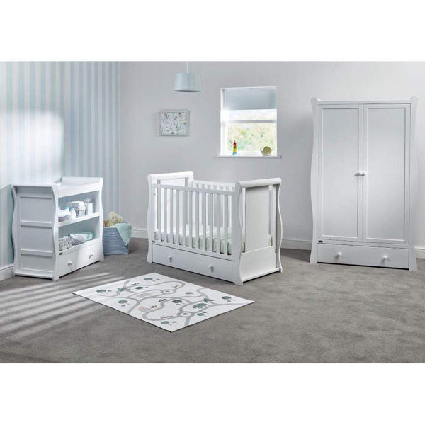 East Coast cot bed room sets East Coast Nebraska Cot2Bed 3 Piece Roomset White 9012WRS