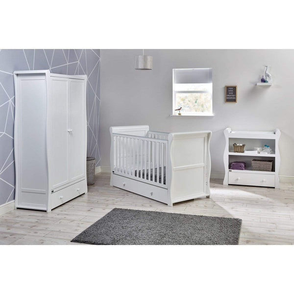 East Coast cot bed room sets East Coast Nebraska CotBed 3 Piece Roomset White 9028WRS