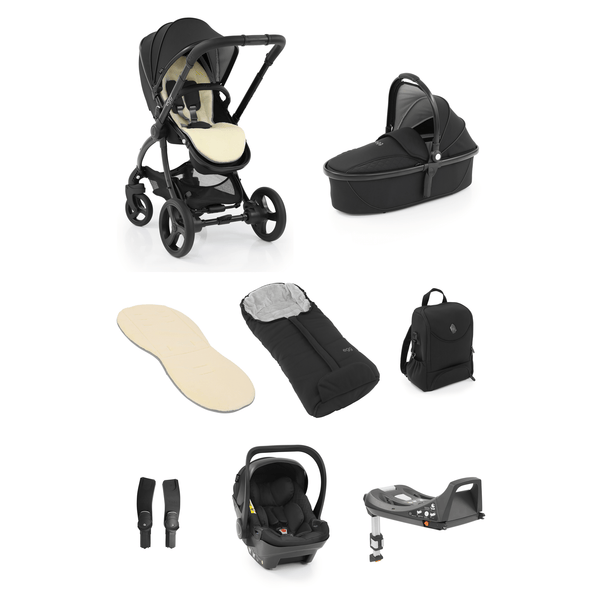 egg baby prams egg2 Luxury Bundle Special Edition Just Black 7716-JUS-BLK