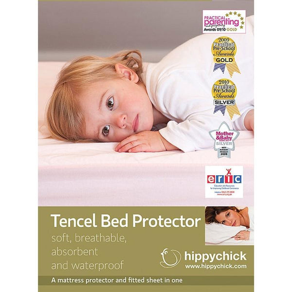 Hippychick cot bed sheets Hippychick Tencel Fitted Cotbed Mattress Protector HCTBP1C