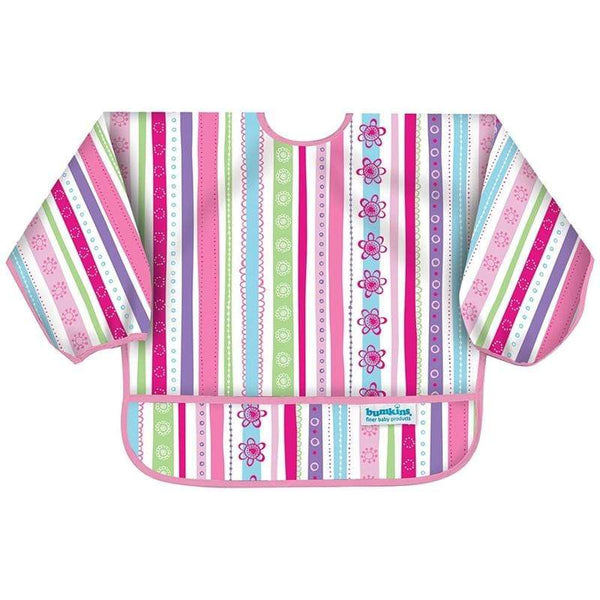Hippychick feeding & weaning Bumkins Sleeved Bib Girls Ribbons BUMKSU760