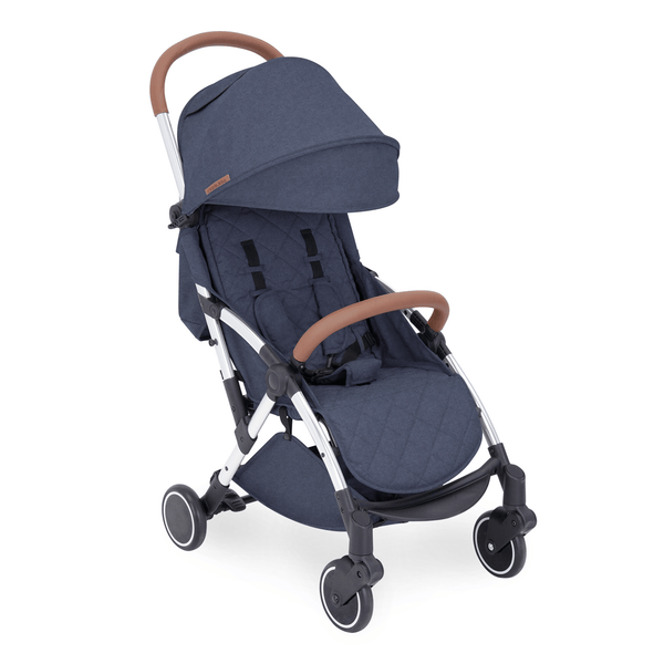 Ickle Bubba baby pushchairs Ickle Bubba Globe Pushchair Silver/Denim Blue 15-001-100-051