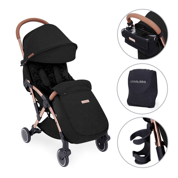 Ickle Bubba baby pushchairs Ickle Bubba Globe Prime Pushchair Rose Gold/Black 15-001-300-043