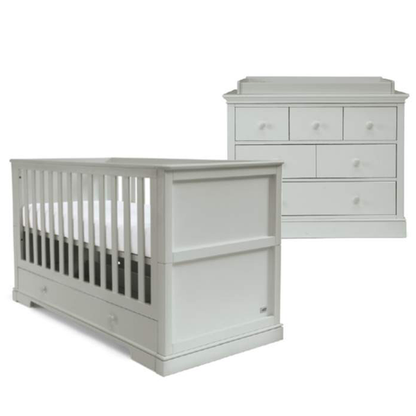 Mamas & Papas cot bed room sets Mamas & Papas Oxford 2 Piece Cot Bed Roomset Cool Grey SEOX05G00