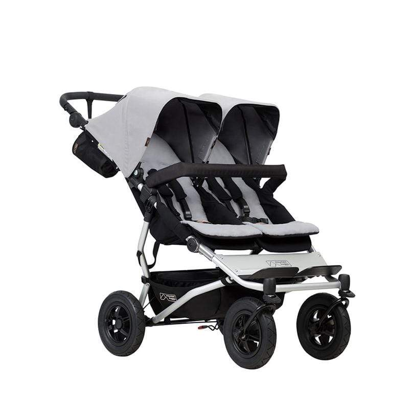 Mountain Buggy double buggies Mountain Buggy Duet V3 Double Pushchair Silver DUET-V3-6