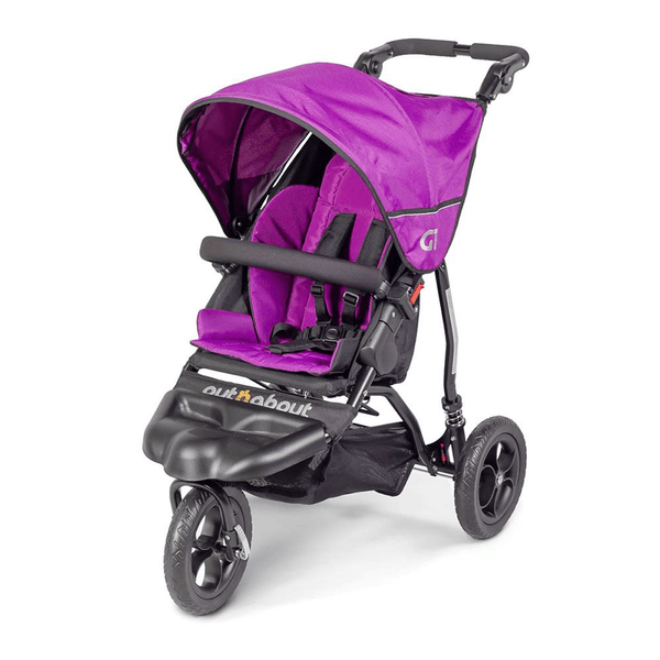 Out n About 3 wheel pushchairs Out n About GT Single Stroller Purple Punch ONAGT-01PP