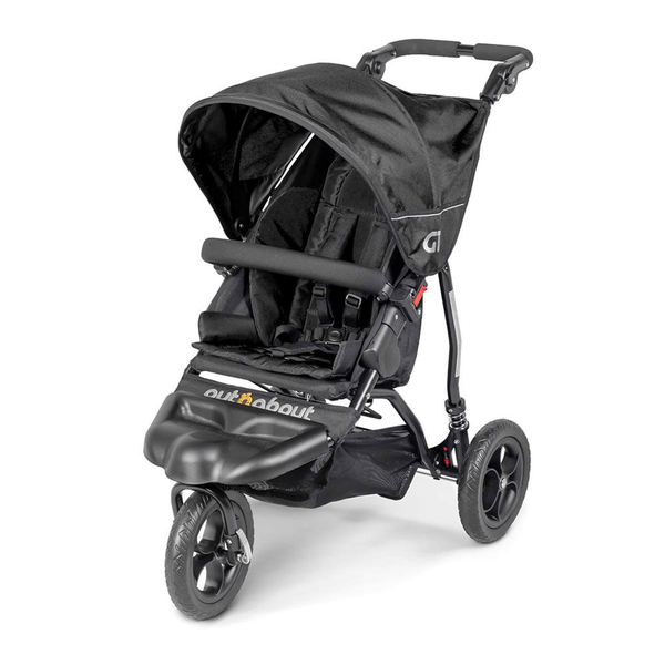 Out n About 3 wheel pushchairs Out n About GT Single Stroller Raven Black ONAGT-01RB