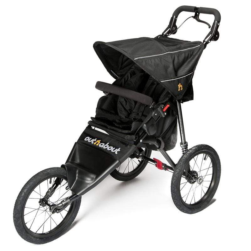 Out n About 3 wheel pushchairs Out n About Nipper Sport V4 Raven Black NIPSP-01RBV4