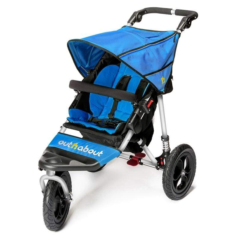 Out n About 3 wheel pushchairs Out n About Nipper V4 Lagoon Blue NIP-01LBV4