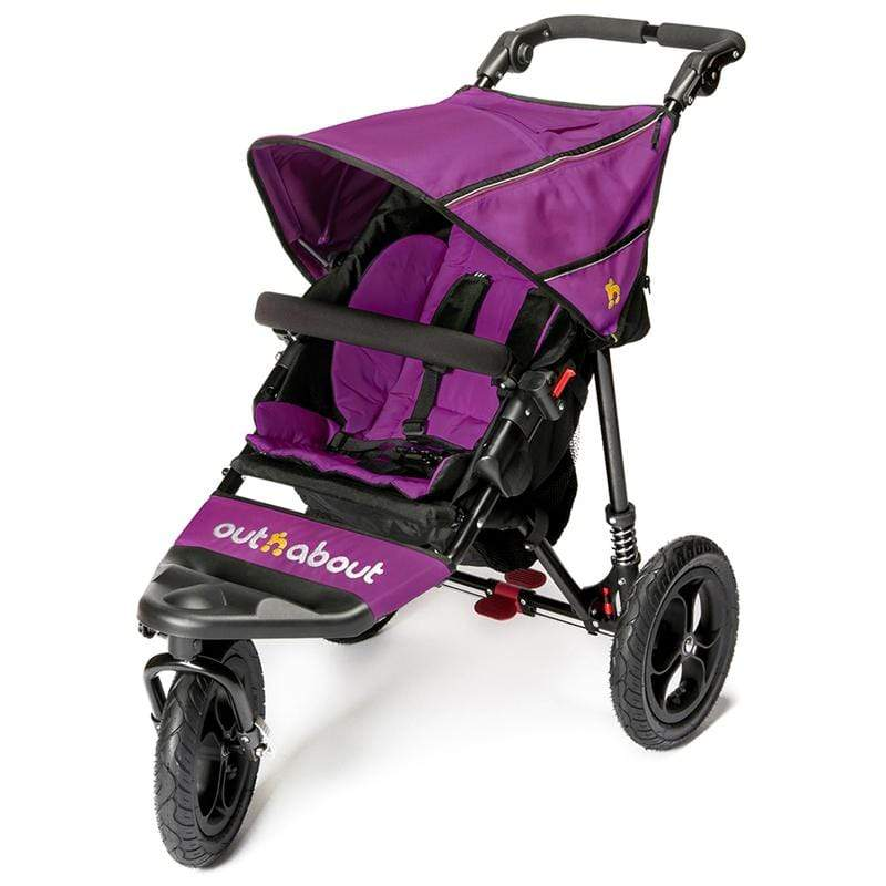 Out n About 3 wheel pushchairs Out n About Nipper V4 Purple Punch NIP-01PPV4