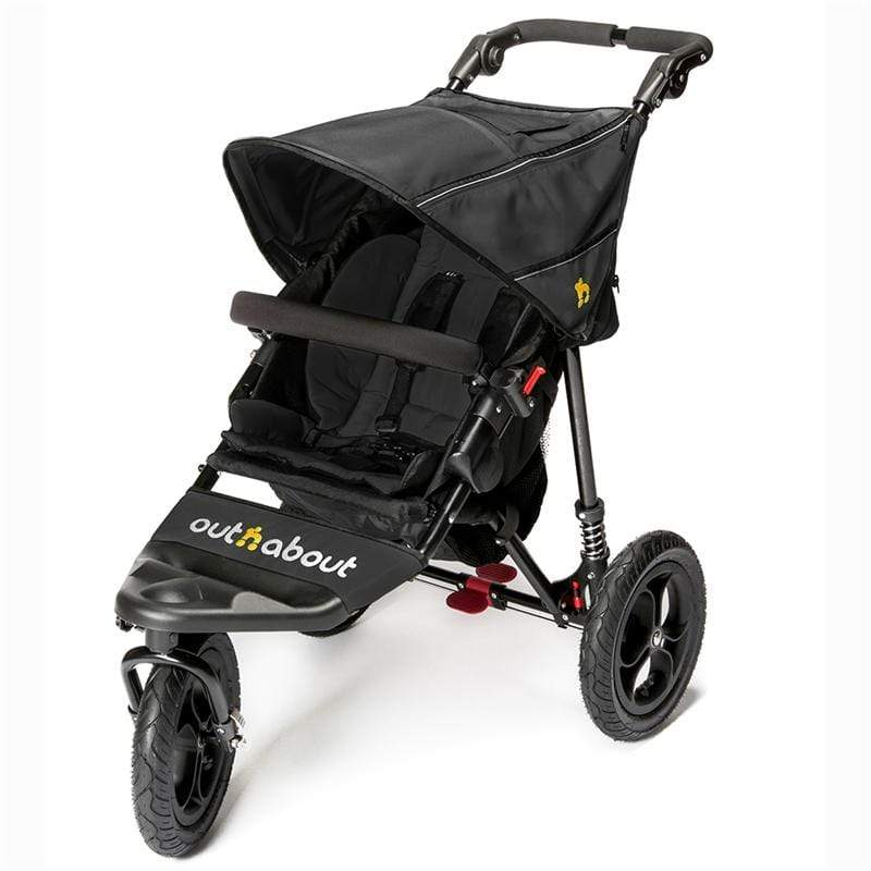 Out n About 3 wheel pushchairs Out n About Nipper V4 Raven Black NIP-01RBV4