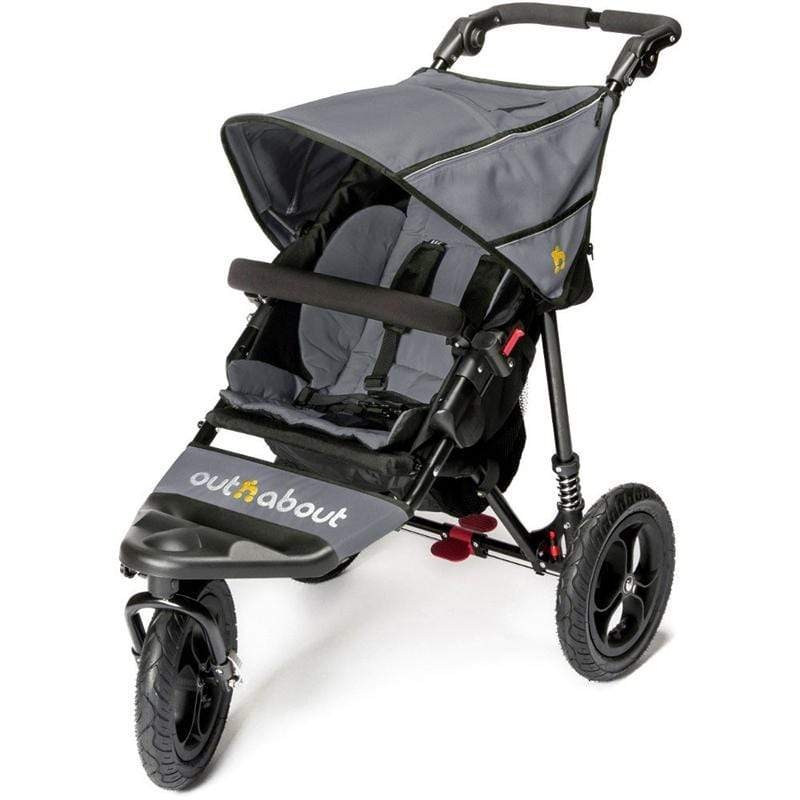 Out n About 3 wheel pushchairs Out n About Single Nipper V4 Pushchair Steel Grey/Black NIP-01SGV4